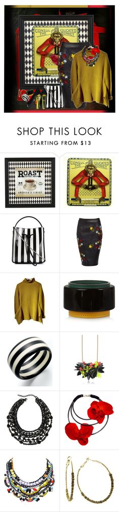 """""""Educated Monkey"""" by halebugg ❤ liked on Polyvore featuring Coffee Shop, 3.1 Phillip Lim, Matthew Williamson, Marni, Aris by Treska, 1928, Charlotte Olympia and alternative"""