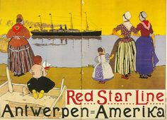 Red Star Line, shipping company from Antwerp to Ellis Island