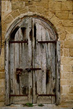 Old door in Jaffa, Israel