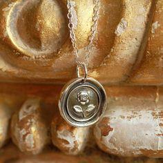 40.00 Fragrant Roses, Beautiful Symbols, Antique Wax, Grey Roses, English Roses, Wax Seals, Dog Tag Necklace, Pendants, Pendant Necklace