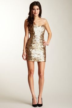 naven sequin sweetheart dress