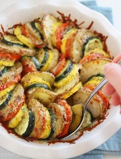 Parmesan Vegetable Tian