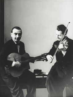 Hot Jazz of France, Django Reinhardt and Stephane Grapelli, 1935 -by Erwin Blumenfeld