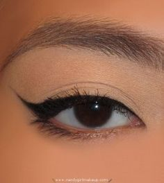 How to Create Winged/Cat Eyeliner. Use Mary Kay Jet Black Gel eyeliner.  http://www.marykay.com/pstrickland15/en-US/Makeup/Eyes/Eyeliner/Mary-Kay-Gel-Eyeliner-With-Expandable-Brush/Jet-Black/200224.partId?eCatId=10020