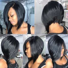2019 Trendy Bob Hairstyles For Black Girls Trendy bob hairstyles for black girls. Bob hairstyles are cool, versatile, innovative and easy to maintain. Today you have plenty of techniques and various styles of Bob hairstyles. Black Girl Bob Hairstyles, Curly Bob Hairstyles, Straight Hairstyles, Bob Haircuts, Braided Hairstyles, Medium Hairstyles, Wedding Hairstyles, Short Hair Cuts, Short Hair Styles