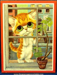 ©1965 Big Eyed Pity Kitty Gig Art Print