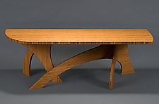 "Banyan Coffee table by Seth Rolland (Wood Coffee Table) (17"" x 52"")"