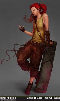 Female Character Series Part 5/6 - Final Polish by ConceptCookie.deviantart.com on @deviantART