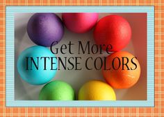 Get more intense colors when dying Easter eggs-Get more details