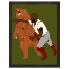 Black Bear Punch Print Art