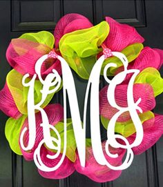 Make your new monogram on a wreath for the front door of your house after you get married. Could use wedding colors or leftover flowers for the wreath