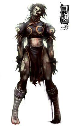 36 personajes geek versión Zombies-street fighter-chun li zombie