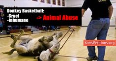 PETITION, PLEASE SIGN AND SHARE! US Schools Donkey Basketball shows are usually a way to attract the attention of large crowds most often than not in some sore of a fundraiser