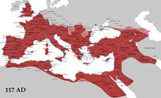 From Wikiwand: Impero romano al tempo della sua massima espansione sotto Traiano.