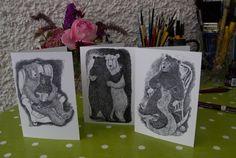 Bear illustration cards. https://folksy.com/shops/JoolsWilson