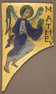 Plaque with the Symbol of the Evangelist Matthew Date: ca. 1100 Geography: Made in Conques, France Culture: French Medium: Copper: cut and gilt