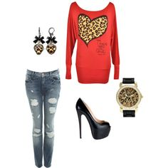 cheetah print outfit3, created by cposterick on Polyvore