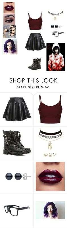 """Date With Jeff The Killer"" by brokengirl932 ❤ liked on Polyvore featuring RED Valentino and Charlotte Russe"
