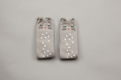 """""""Cat"""" knee socks from Korea for boys and girls. Beautiful design and quality. Worldwide shipping. www.lublue.co.uk"""