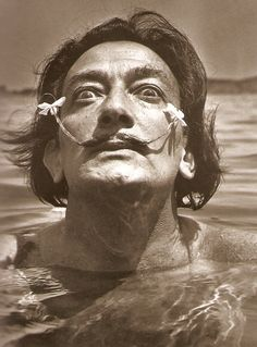 Salvador Dali by french photographer Jean Dieuzaide