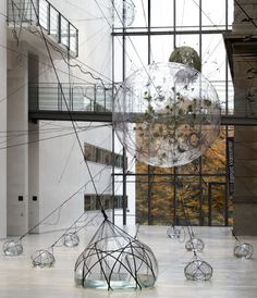 'Biospheres' by Thomas Saraceno - Inflatable modules, acrylic, rope, plants, water