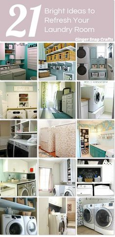 Here are some usable ideas for refreshing and decorating your laundry room.