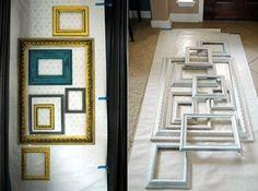 Deko Wohnzimmer Selbst Gemacht Bilderrahmen Dekorieren Kreative Wandgestaltung Freshouse