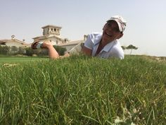 Happy G-FLOPper at Abu Dhabi Yas Links Golfcourse - the starter loved them! Just #golf and #golffashion