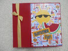 6 x 6  Summer Fun Scrapbook Album by SimplyMemories on Etsy