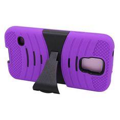 Samsung Galaxy S5 Purple + Black Robotic Case