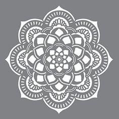 18 x 18 Americana Decor Stencils Mandala Mandalas Painting, Mandalas Drawing, Stencil Fabric, Stencil Patterns, Stencil Painting, Mandala Design, Mandala Art, Chalk Pencil, Simple Mandala