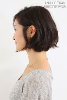 Brunette hair owners, if you want to try nowadays' latest hair trend, you should check these Brunette Bob Hairstyles 2015 - All ladies clearly knows. Haircuts For Wavy Hair, Short Bob Hairstyles, Short Hair Cuts, Cool Hairstyles, Bob Haircuts, Straight Haircuts, Hairstyles 2016, Neck Length Hairstyles, Chin Length Haircuts