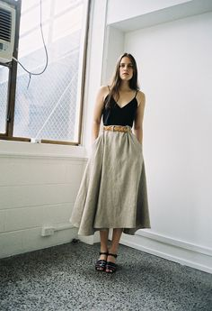 Prairie Skirt Flaxen