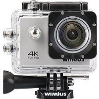 """Wimius 4K Action Cam WIFI WebCamera Full HD 1080P 16MP Impermeabile Sport Camera 170 ° Grandangolare 2.0"""" LCD Screen con Vari Accessori Bianco"""