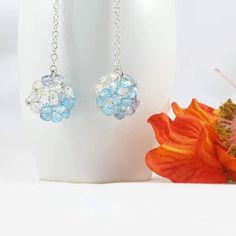 Guarda questo articolo nel mio negozio Etsy https://www.etsy.com/it/listing/480322553/orecchini-cristallo-pendentisfere