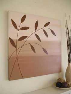 Easy Canvas Art, Simple Canvas Paintings, Small Canvas Art, Canvas Painting Tutorials, Acrylic Painting Canvas, Diy Painting, Drawing, Trending Art, Crafts