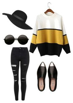"""""""simple"""" by alexa-barnes on Polyvore featuring Topshop, Miu Miu, women's clothing, women's fashion, women, female, woman, misses and juniors"""