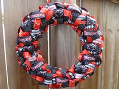Tampa Bay Buccaneers NFL Ribbon Wreath by CraftyNewsReporter, $65.00