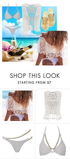 """""""70. Beach Pic-Nic"""" by kristina-lindstrom ❤ liked on Polyvore featuring maurices, Agent Provocateur and Tory Burch"""
