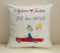 Wedding and anniversary cushion