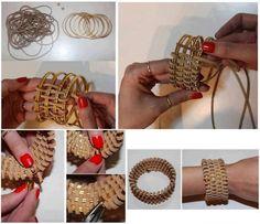 DIY Leather Wrapped Bracelet