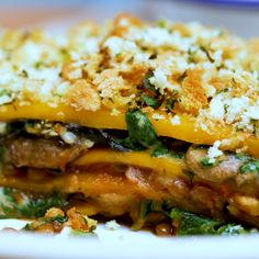 Whether you re shredding avoiding carbs or bulking up this butternut squash lasagne will be your favourite new gym bud Vegetarian Recipes Videos, Veggie Recipes, Cooking Recipes, Healthy Recipes, Vegan Butternut Squash Recipes, Recipes Dinner, Butternut Squash Lasagna, Vegetarian Lasagne, Kitchen