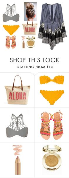 """""""Férias na praia 3"""" by jaquemel ❤ liked on Polyvore featuring Rip Curl, Marysia Swim, Mikoh, Elina Linardaki, Milani and WithChic"""