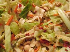 Asian Slaw With Spicy Thai Vinaigrette - work off of this recipe for dressing for thai cucumber salad