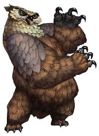Owlbears are large hybrid monsters That swipe fast with their huge claws. Sidequest The Owlbear Menace requires you to kill off ten Owlbears should you encounter them. Magical Creatures, Fantasy Creatures, Fantasy Kunst, Fantasy Art, Creature Picture, Dragons Crown, Vintage Illustration Art, Dnd Monsters, Drawing Projects