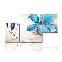 iPainting Modern Canvas Art Framed Oil Painting Orchid Flolwer Artwork for Wall Decor and Home Decoration Pack of inch inch * For more information, visit image link. Canvas Art Prints, Art Painting, Art Painting Oil, Modern Canvas Art, Painting, Oil Painting Abstract, Blue Flower Painting, Abstract, Canvas Painting