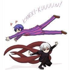 Whoosh!! Kaneki and Tsukiyama | Tokyo Ghoul Fan Art Follow me on Facebook @ Facebook.com/Kentipede
