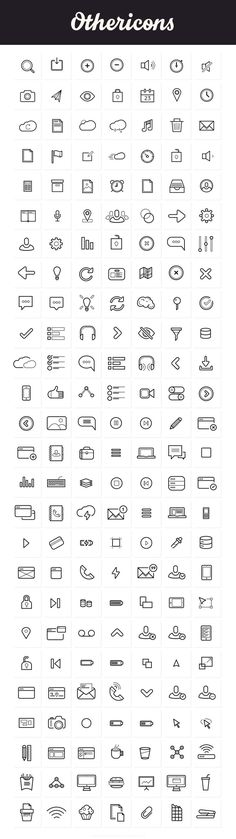 Othericons - 207 Free Outline Icons #infographics