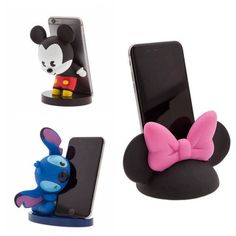 Disney character phone stands from Disney Store Diy Arts And Crafts, Crafts For Kids, Paper Crafts, Cute Polymer Clay, Polymer Clay Crafts, Accessoires Iphone, Cute Disney, Disney Cars, Disney Home