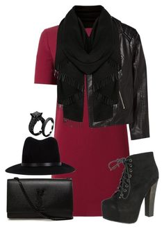 """""""."""" by erixx ❤ liked on Polyvore featuring P.A.R.O.S.H., H&M, Breckelle's, rag & bone and Yves Saint Laurent"""